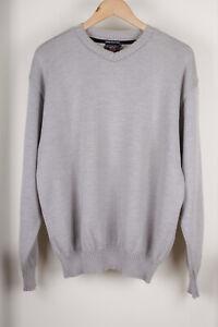Paul & Shark Yachting Bretagne Grey Wool Jumper Sweater Size L