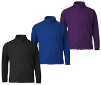 Mens Winter Soft Fleece Jacket Full Zip Warm Outdoors High Neck S,M,L,XL