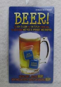 Beer Cerveza Dados Juego de beber Inglés y español Ez Diversión Fiesta Bar Chico