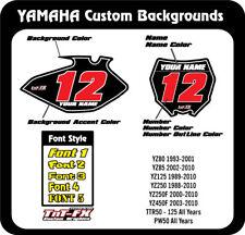 Yamaha Custom MX Number Graphics YZ ALL SIZES, OLDER BIKE SPECIAL  USA
