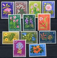 BRITISH SIERRA LEONE - FLOWERS Yvert # 213/25 Complete Set MNH VF
