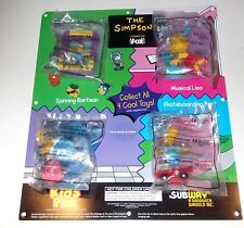 The Simpsons RARE SUBWAY STORE DISPLAY Kids Pak Lot PLUS THE POSTER Simpson 1997