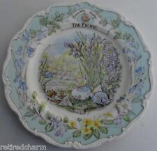 "� Rare Htf Royal Doulton Brambly Hedge ""The Picnic"" China Plate Collector Item �"