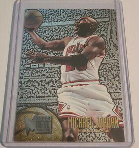 1995-1996 Fleer Metal Michael Jordan Silver Spotlight Parallel Chicago Bulls