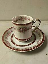 Antique Theodore Haviland & Co. Limoges, France Cup & Saucer, Pink Floral,