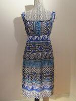 Diane Von Furstenberg Women's Sleeveless Dress Size 8. Silk. Multi color.