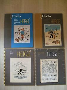 4x Hergé Tintin catalogue de vente piasa - Erstausgabe - (2009/2011) neuwertig