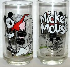 One Vintage Mickey Mouse Club Glass Mickey Mouse MINT UNUSED
