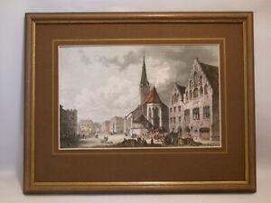 Wasserburg am Inn Lkr. Rosenheim Marktplatz Kunstdruck Dietz Offizin