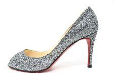 Christian Louboutin Open toe Glitter Pamps size:38.5 Free Shipping World Wide