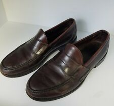 Allen Edmonds Bergamo Burgundy Leather Dress Loafer Mens Slip On Shoes Size 9