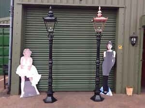 Victorian cast iron lamp post and top. Very Few Left In stock !!