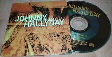 JOHNNY HALLYDAY ALLUMER LE FEU CD PROMO AVEC TAMPON RELIEF RTL ALLUMER LE FEU