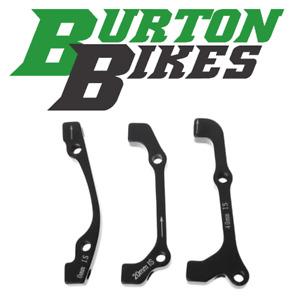 Burton Bikes disc brake caliper adapter, IS Mount to Post Mount, 160/180/200mm