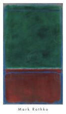No. 7 (Green and Maroon), 1953 by Mark Rothko Art Print Abstract Poster 36x21