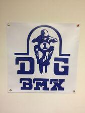 old school bmx gjs 2x2 repro banner mancave shop garage display