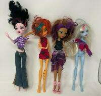 Monster High 4 Dolls: Draculaura, Toralei Stripe, Clawdeen Wolf, Abbey Bominable