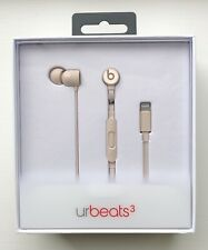 Genuine Beats By Dr. Dre UrBeats 3 Earphones Wired Lightning Apple Matte Gold