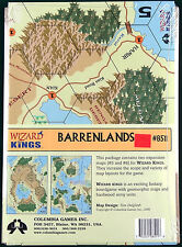Wizard Kings Columbia Games expansion Barrenlands Maps #5 & #6 - #8511 NEW SW