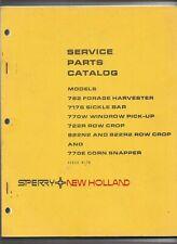 Original New Holland 782 717S 770W 722R 822N2 770E Service Parts Catalog 5078270