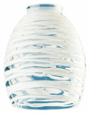 Westinghouse  Tapered Barrel  White  Glass  Fan/Fixture Shade  1 pk