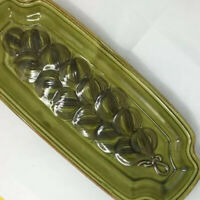 Wade Pottery of California 1960s Long  15  Onions Green Serving Tray 510
