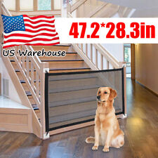 New listing Retractable Pet Dog Gate Safety Guard Folding B 00006000 aby Stair Gate Isolation Mesh Usa