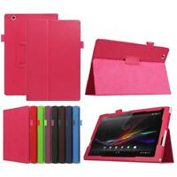Stylish Leather Case Protective Shell Stand Cover For Sony Xperia Tablet Z4 Case