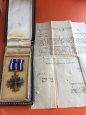 NAMED WWII USA FORCES DISTINGUISHED FLYING CROSS MEDAL DONALD MONROE RIBBON CASE