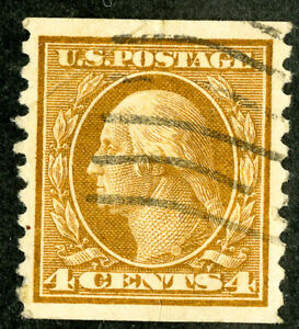 US Stamps # 457 Used Superb Used w/ PFC light crease at top. Very Attractive.