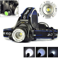 1800LM XM-L T6 LED Zoomable Headlight Head Torch Lamp 2 X 18650 + AC/Car Charger
