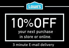 ONE (1X) 10% OFF LOWES PRINTABLE 1Coupons - Lowe's In store/online FAST Delivery