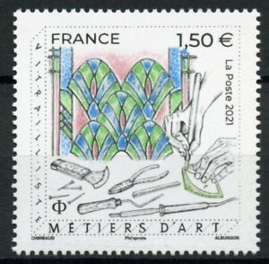 France Crafts Stamps 2021 MNH Stained Glass Metiers D'Art Handicrafts Art 1v Set