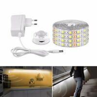 1-5M LED Cabinet Light Motion Sensor 5050 SMD LED Strip lamp with US/EU Plug