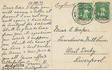 SCHWEIZ ORTSSTEMPEL ALLERHEILIGENBERG / (SOLOTHURN) extrem selt. K2 1912