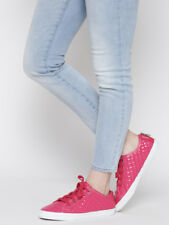 GEOX Respira Women Pink Quilted Italian Patent Leather Sneakers Size 40