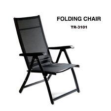 Heavy Duty Durable Adjustable Reclining Folding Chair Outdoor Indoor Garden Pool