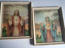 Religious Jesus Litho'd Framed Pictures Vintage