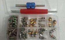 102 pcs Assortment A/C Schrader Valve Core&Tool 4 HVAC R134a/R12 Kit 11kinds