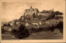 RANIS Thüringen AK um 1920 Burg Fernansicht Castle Postcard Verlag C. Breiter