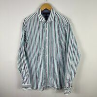Tommy Hilfiger Mens Button Up Shirt XL Multicolored Striped Long Sleeve Collared