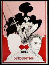 Affiche Renard Brel DemesurAimant Signé 36,5x50,3