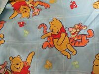 Vintage Winnie the Pooh Tigger Twin Bed Fitted Sheet Disney 1997