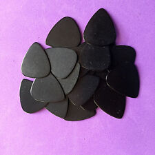 20 PERSONALIZED Guitar Picks Solid black YOUR NAME ON PICKS!! Med.