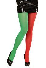 Green & red bi couleur Elf de Noel Collants Bonneterie xl plus taille robe de fantaisie (16 au 20)