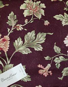 Boundless Cour De Fleur Floral Purple Cotton Fabric 5 Yard Package