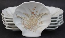 11 Pc German V&B Gallo Leonardo Fougere Porcelain Shell Plate Gold Decor Set