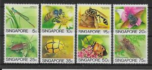 SINGAPORE SG491a/8a 1988-9 INSECTS SET LEIGH-MARDON PRINTING MNH