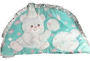 Crib Headboard Pad Judi's Baby Bubbles Sleepy Bear Quilted Dimensional