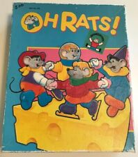 Discovery Toys Oh Rats! Puzzle Game Speech Occupational Therapy 1988 VTG